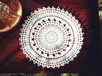 [受注製作]Crocheted doily*太陽の画像