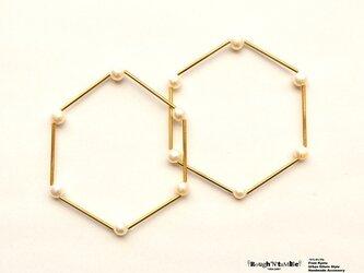 Hexagon bracelet pearl(1本売り)の画像