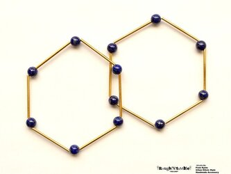 Hexagon bracelet lapis(1本売り)の画像