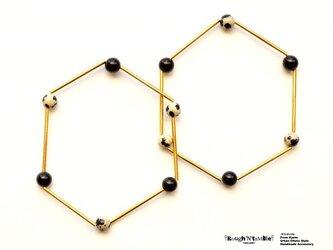 Hexagon bracelet dalmatian(1本売り)の画像
