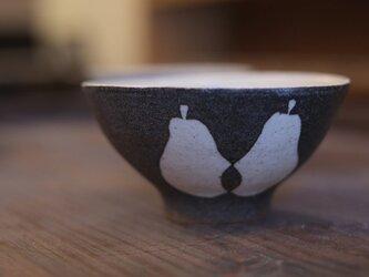 洋なしの小飯椀(黒)の画像