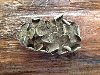 革花のバレッタ オリーブ 金具6cm 76の画像