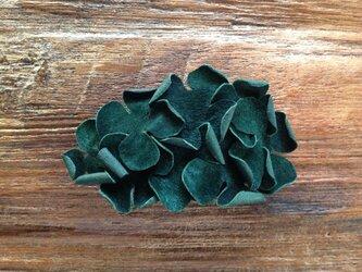 革花のバレッタ 深緑 金具6cm 77の画像