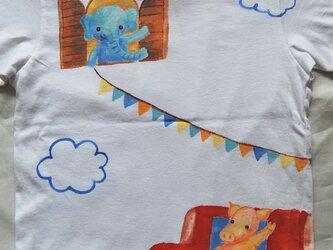 動物フラッグTシャツ110の画像