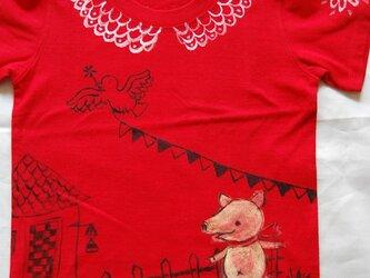 コブタのお散歩シャツの画像