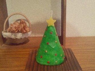 受注生産★ミニクリスマスツリーキャンドルの画像
