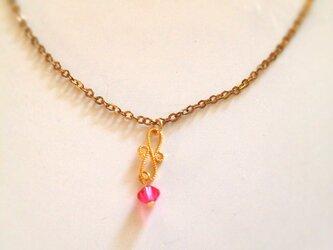 ピンクパーツ ネックレスの画像