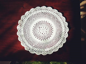 [受注製作]Crocheted doily*花の画像