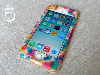 【受注制作】iPhone6専用ケース|drop(三原色)の画像