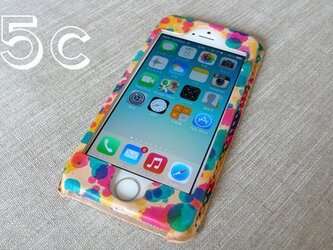 【受注制作】iPhone5c専用ケース|drop(三原色)の画像