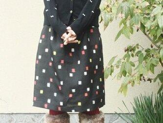 銘仙の毎日スカート(ちいさなスクエア柄・M)の画像