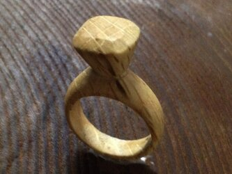 フェイクダイアモンド(木の指輪)の画像