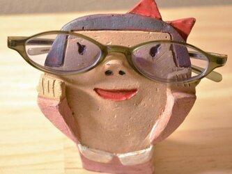 めがね女子のメガネ置き(こども)の画像