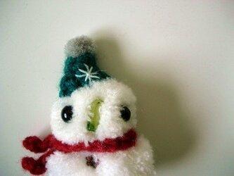 雪だるまブローチ①の画像