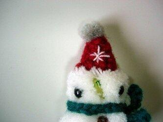 雪だるまブローチ②の画像