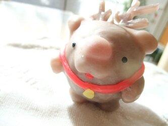 """まんまるキャンドル  """"トナカイちゃん""""の画像"""