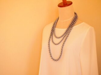 3連 cotton pearl necklaceの画像