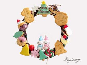 スイーツデコのクリスマスリースの画像