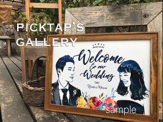 ■picktap's gallery■ウェルカムボード/A2サイズ/ヴィンテージ調の画像