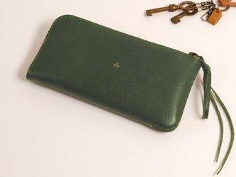 【受注製作】財布 lzw [グリーン]の画像