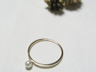 K10 一粒パールのリング 1号~15号の画像