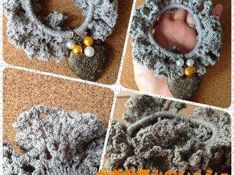 かぎ針編みのシュシュ~その3の画像
