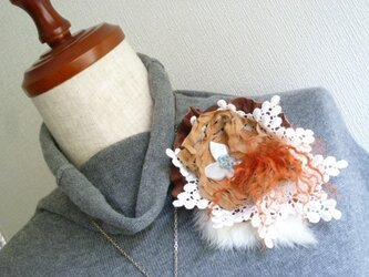 ornato ~革と毛皮とレースのコラージュ~ ♪パピヨン♪の画像