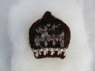 手紡ぎ糸 mini NitHat ブローチ【カモシカ】の画像