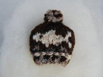 手紡ぎ糸 mini NitHat ブローチ【サカナ】の画像