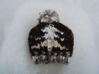 手紡ぎ糸 mini NitHat ブローチ【ツリー】の画像