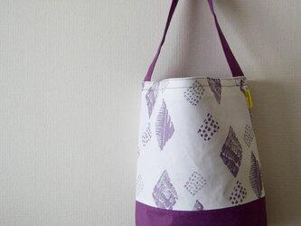 ワンストラップバケツバッグ/紫の画像