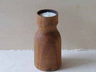 木のキャンドルホルダー(チーク)の画像
