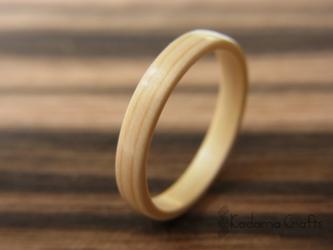 手作り木の指輪~ひのき~の画像