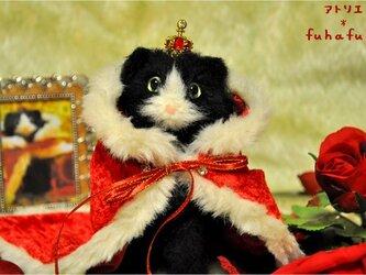 羊毛フェルト*猫の王様 ケットシーの画像
