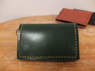 シンプルで使いやすい背面ポケット付きの小銭入れ(大)_GRの画像