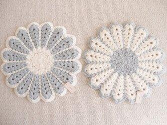 冬物セール*あったか毛糸の座布団2枚セットの画像