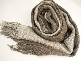 イカスミ染シルク100%真綿紬の画像