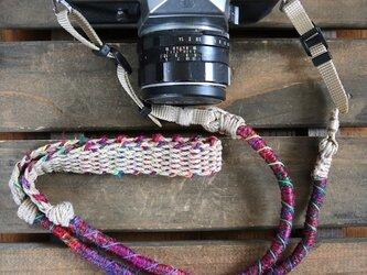Crazy-color麻紐ヘンプカメラストラップ(ベルト)の画像