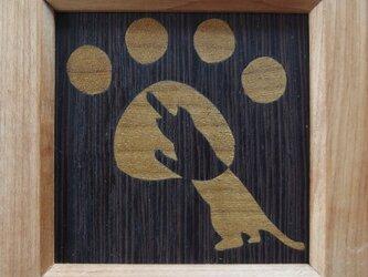 木象嵌ミニ額絵~ねこ1~の画像