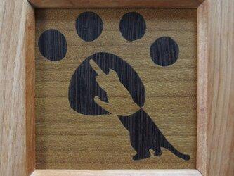 木象嵌ミニ額絵~ねこ2~の画像