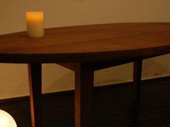 ブラックウォールナットローテーブル (オーダー)の画像