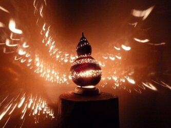 ひょうたんランプ 螺旋の渦の画像