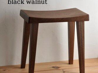 木製スツール ウォールナットの画像