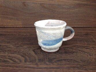 コバルトと藁灰釉のマグカップの画像