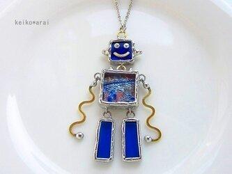 [Sold]ステンドグラスのロボットネックレス(12)**の画像