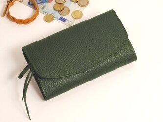 【受注製作】財布 wrap-L (HL) [グリーン]の画像