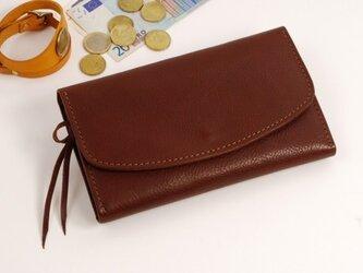 財布 wrap-L (HL) [ダークブラウン]の画像