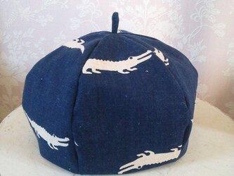 (受注製作)ワニワニランド*リバーシブルベレー帽[ベビー]の画像