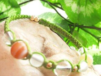 ✩天然石ブレスレット✩緑colorの画像