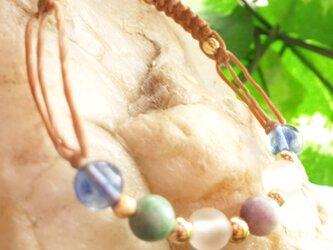 ✩天然石ブレスレット✩薄茶colorの画像